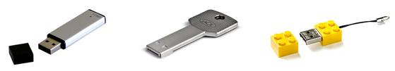 Des clés USB de toutes formes