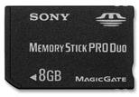 Une carte Memory Stick Pro Duo