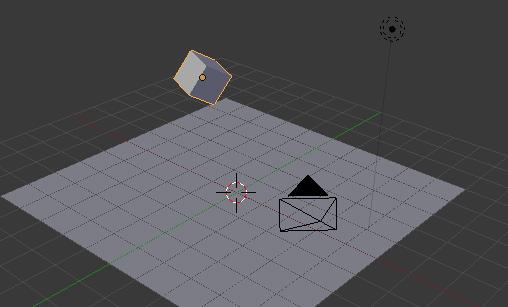 Placez un cube en lévitation au-dessus de votre plan