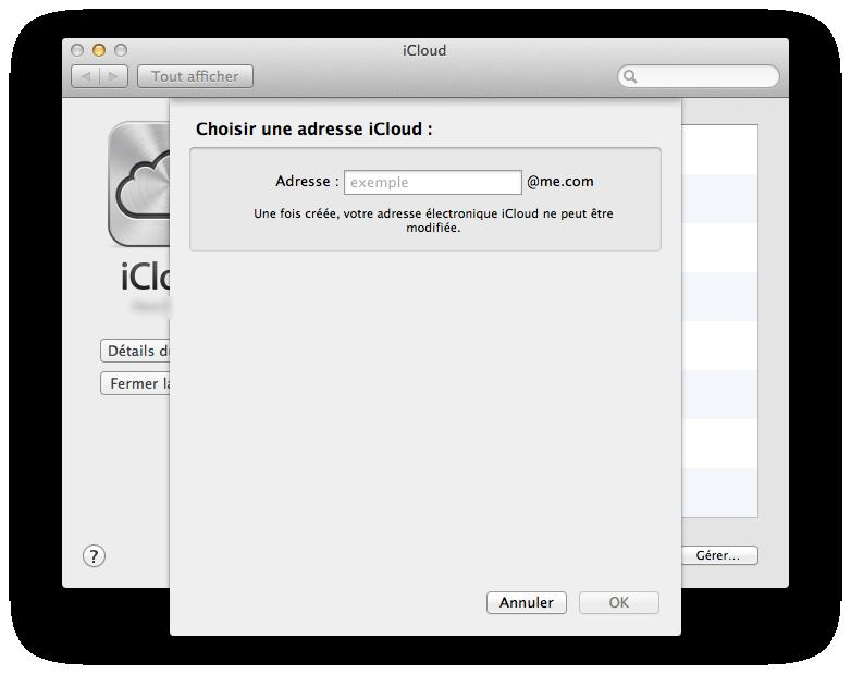 Créer une adresse mail avec iCloud