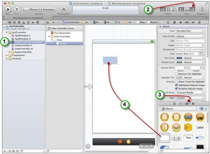Insertion d'un contrôle dans une application