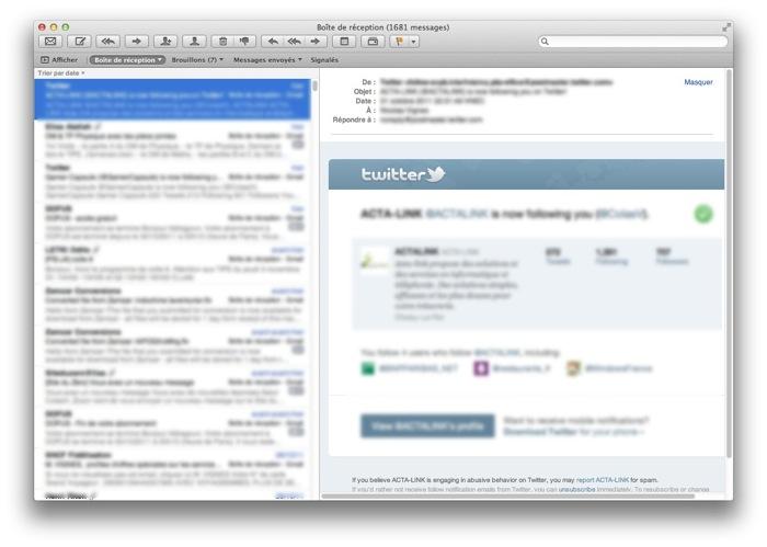 Une application pour lire ses mails : Mail