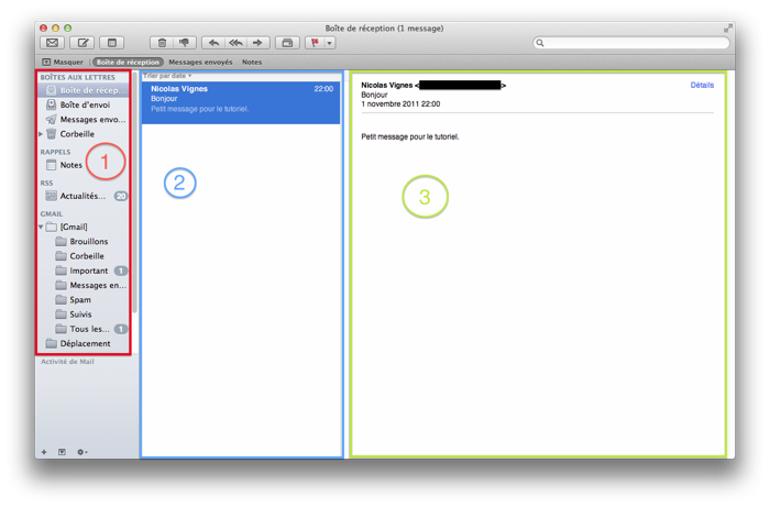 Interface de Mail