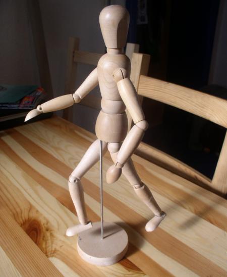 Le petit mannequin de bois