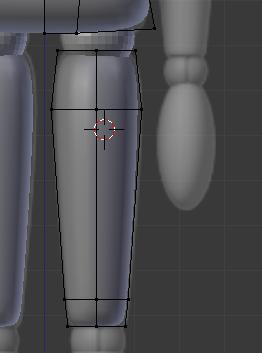 Utiliser le cylindre pour modéliser les cuisses