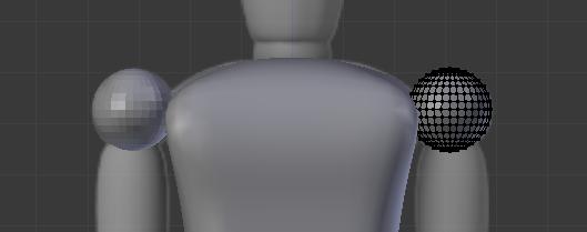Utilisez une sphère pour modéliser l'épaule
