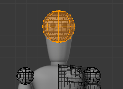 L'UV Sphere comme base pour modéliser la tête