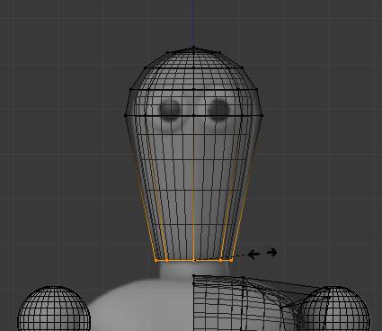 Rétrécir la base du cou pour obtenir une forme conique