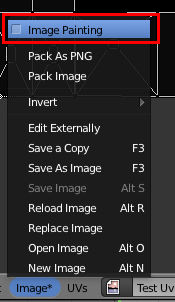 Activer Image Painting pour afficher les outils de coloriage