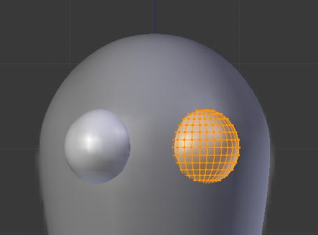 Ajoutez une sphère blanche sur le visage