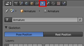 Paramétrez votre armature depuis le menu Object Data