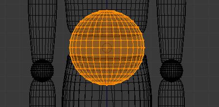 Sélectionnez les points de la sphère et les articulations