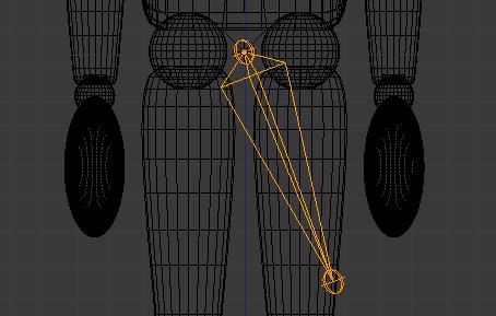 Extrudez l'os vers le genou pour former la cuisse