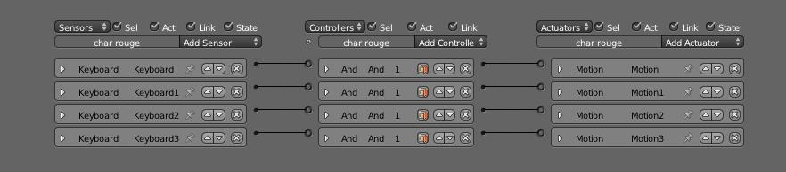 Configurez vos Sensors, Controllers et Actuators