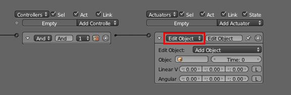 Choisissez l'Actuator Edit object…