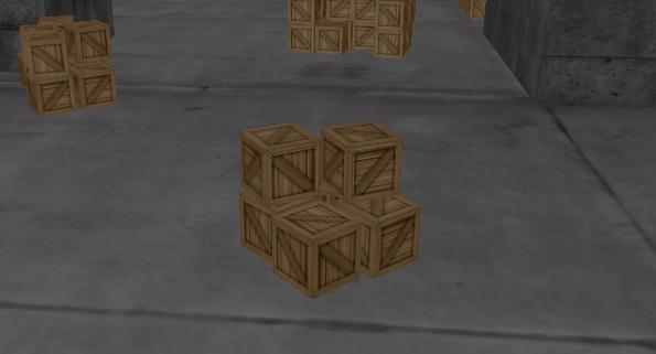 Disposez des caisses…