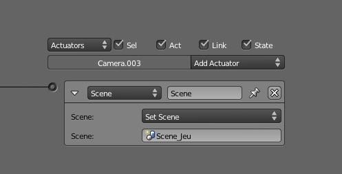 Cet Actuator permet le changement de scène en cours de jeu