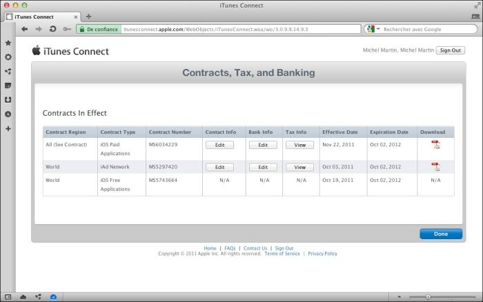 Le statut des contrats est « Processing  »