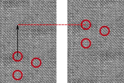 Déplacement des aspérités d'une surface par rapport au capteur de la souris