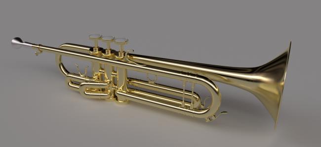 Un rendu de trompette réaliste avec Cycles
