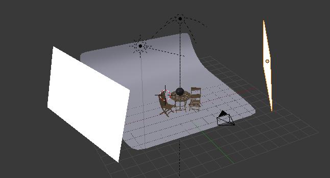 Placer des rectangles blancs autour de la scène