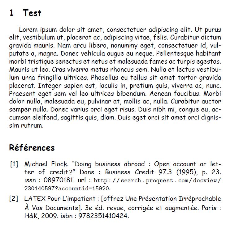 Résolu] [XeLaTeX] BibLaTeX Biber - Références non compliées par