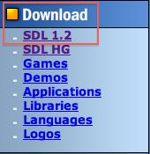 Cliquez sur SDL 1.2