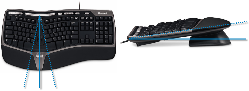 Le clavier ergonomique de l'un de vos serviteurs