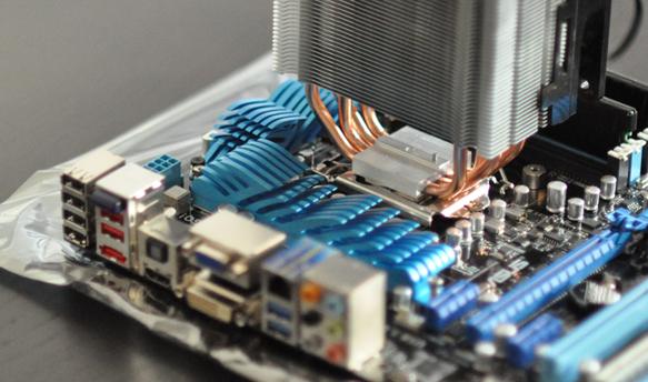 Positionnement du ventirad sur le CPU