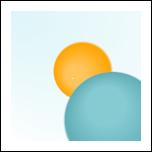Deux bulles créées grâce au dégradé radial