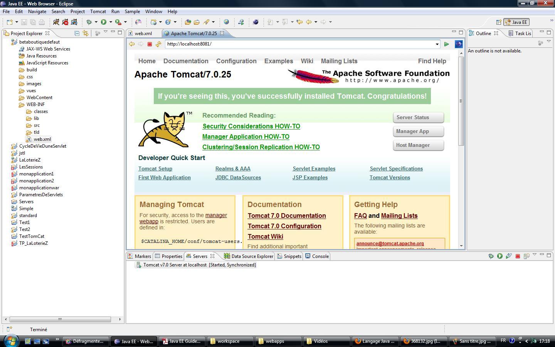 déployer un fichier war dans le répertoire webapps de tomcat