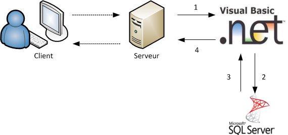 Le langage Visual Basic .NET va servir d'intermédiaire entre vous et SQL Server