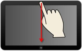 Arrêter une application au doigt.