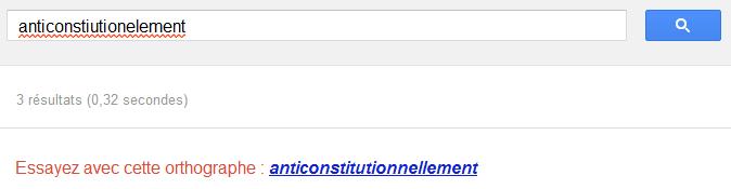 Correction orthographique par le moteur de recherche lui-même