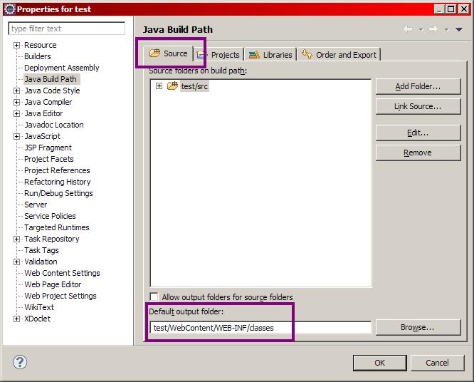 Configuration du build path d'un projet sous Eclipse - Étape 2
