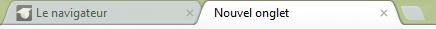 Les onglets dans le navigateur Chrome