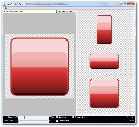 Le logiciel Draw 9-patch