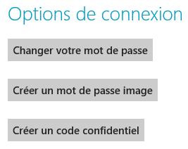 Trois options de connexion