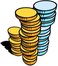 Une pile de pièces