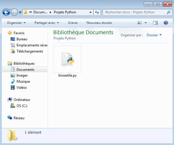 Enregistrer un fichier Python sous Windows