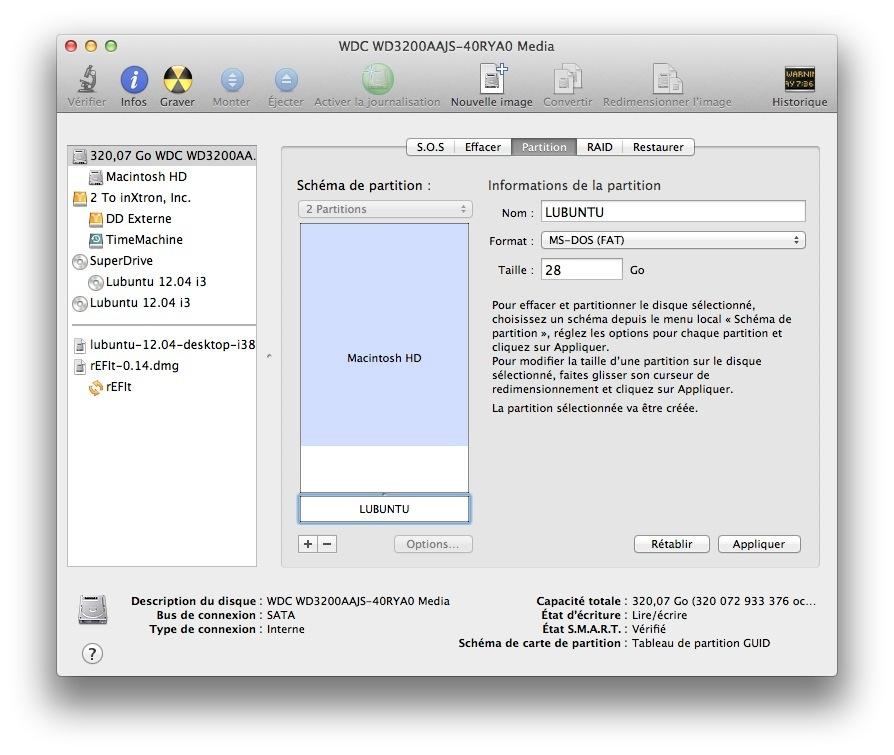 Partitionner son disque dur pour installer Lubuntu