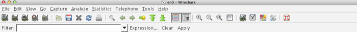 Menu Wireshark