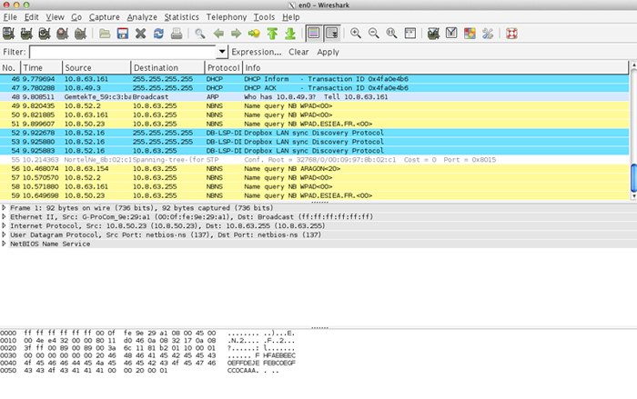 Exemple Wireshark