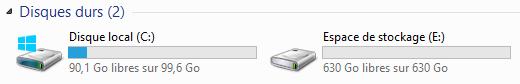 L'EDS apparaît maintenant comme un volume classique dans l'explorateur Windows