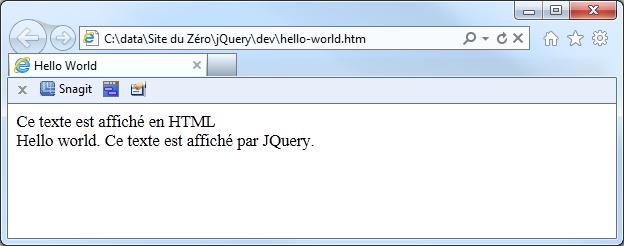 Le fichier est ouvert dans Internet Explorer