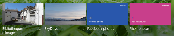 SkyDrive dans l'application Photos