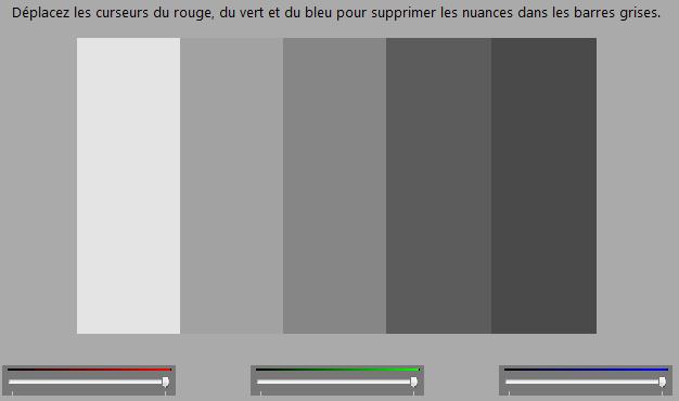Calibrage de l'écran