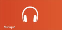 Tuile de l'application Musique