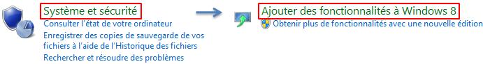 Ajouter des fonctionnalités (payantes) à Windows 8.