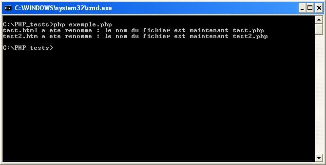 Script de renommage de fichiers